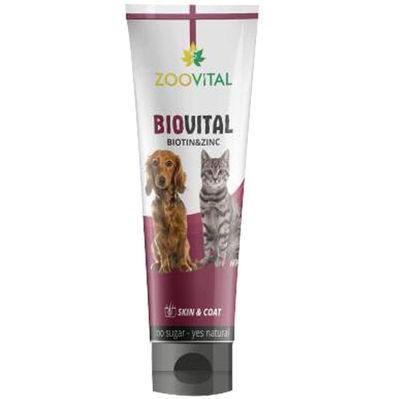 Zoo Vital Biovital Tüy Sağlığı Vitamin Kedi ve Köpek Macunu 100 Gr
