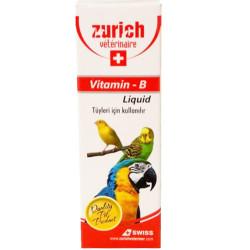 Zurich - Zurich Liquid Vitamin-B Kuş Vitamini 30 ML