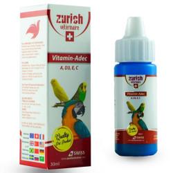 Zurich - Zurich Vitamin-Adec Vitamin ve Mineral Kuş Katkısı 30 ML